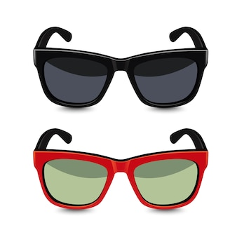 Realistische zonnebril. illustratie
