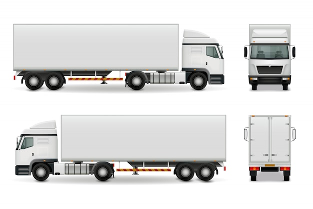 Realistische zware vrachtwagen