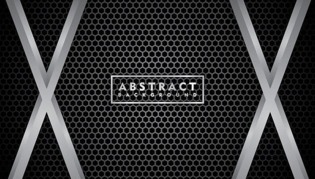 Realistische zwarte metalen textuur