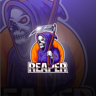 Reaper esport mascotte logo ontwerp