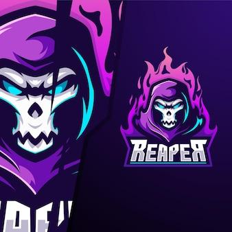 Reaper fire e sport logo sjabloon