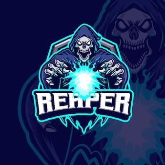 Reaper mascot esport logo ontwerp