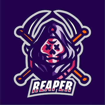 Reaper mascotte gaming-logo