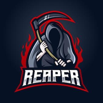 Reaper mascotte logo ontwerp.