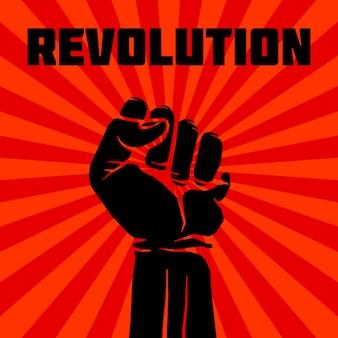 Rebel vector revolutie kunst poster