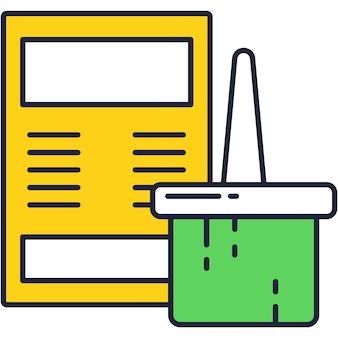 Rebrand pictogram platte vector web rebranding ontwerp