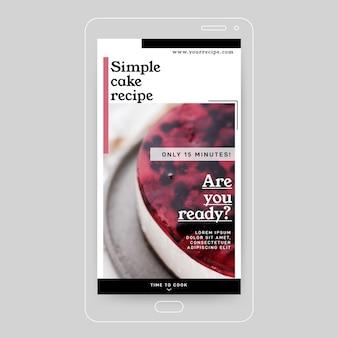 Recept instagram verhaalontwerp