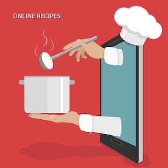 Recepten voor online gerechten