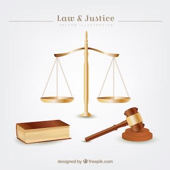 Recht en rechtvaardigheid elementen
