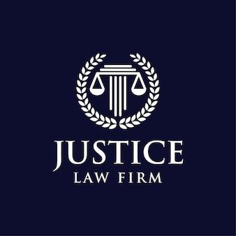 Recht rechtvaardigheid schaal logo tmeplate