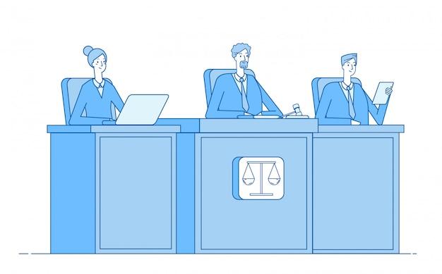 Rechtbank. rechtbank gedaagde vervolgen misdaad aanklager gerechtsgebouw justitie strafrechtzaal justitie concept