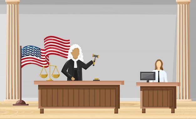 Rechtbank vlakke stijl. wet bevelen brochure