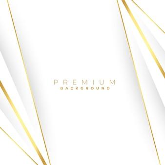 Rechte gouden lijnen op een witte achtergrond