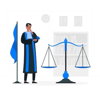 Rechter concept illustratie