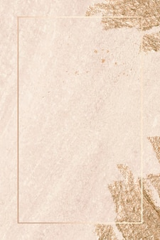 Rechthoek gouden frame op textuur achtergrond vector