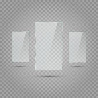 Rechthoeken met transparantie. witte transparantie.