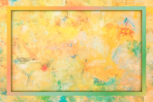 Rechthoekig frame op gele achtergrondsjabloon