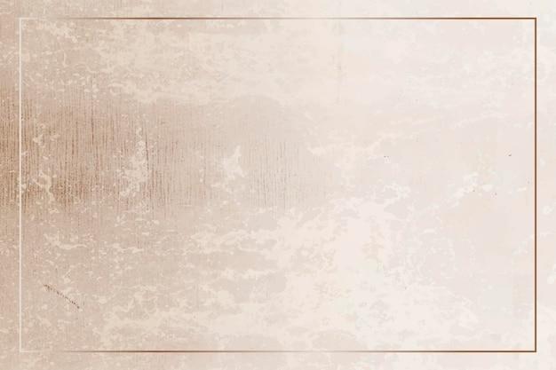 Rechthoekig gouden frame op een grunge bruine achtergrond vector