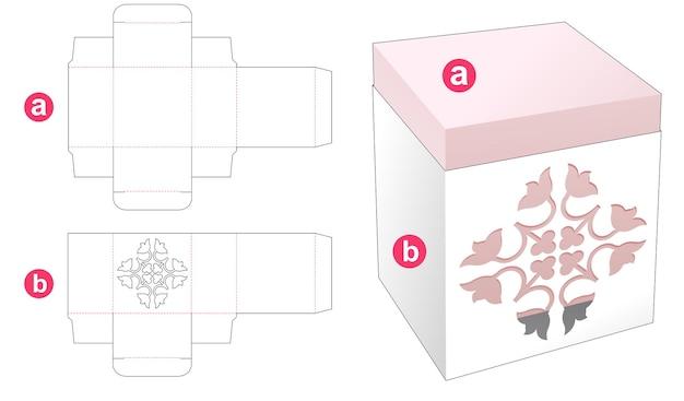 Rechthoekige doos met gestanste omslagsjabloon