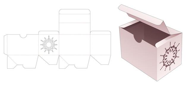 Rechthoekige verpakking met gestanste mandala-sjabloon