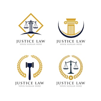 Rechtvaardigheid wet logo sjabloon.