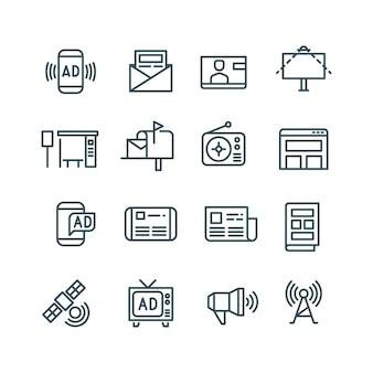 Reclame pictogrammen