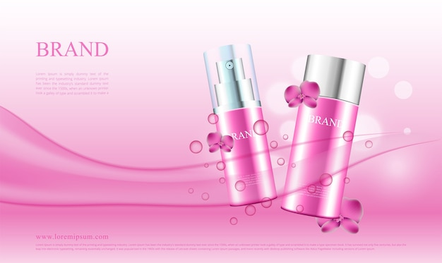 Reclame voor cosmetische producten met orchideeën