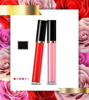 Reclame voor lipgloss cosmetica