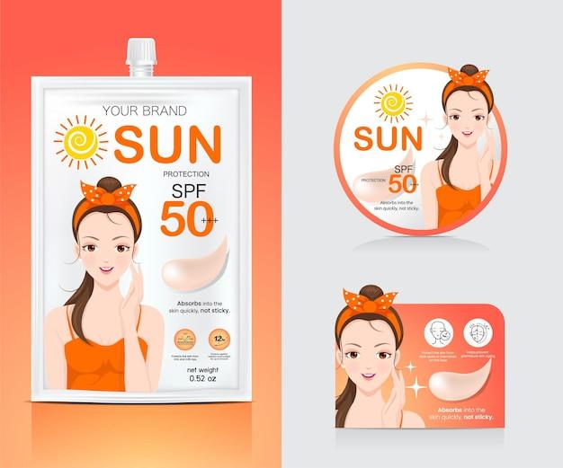 Reclamemateriaal voor zonverzorgingsverpakkingen