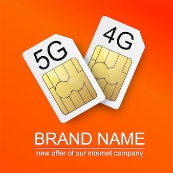Reclameposter van internetbedrijven die de installatie van gg internetverbindingen aanbieden met...