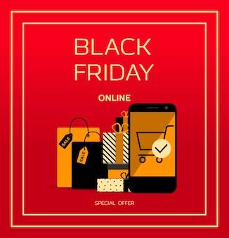 Reclameposter voor black friday banner voor kortingen en verkoop vectorillustratie
