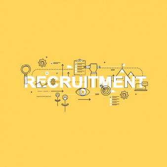 Recruitment achtergrond ontwerp