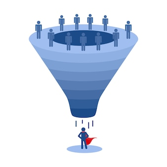 Recruitment funnel, applicant selection vector
