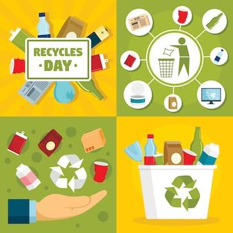 Recyclaat dag achtergrond