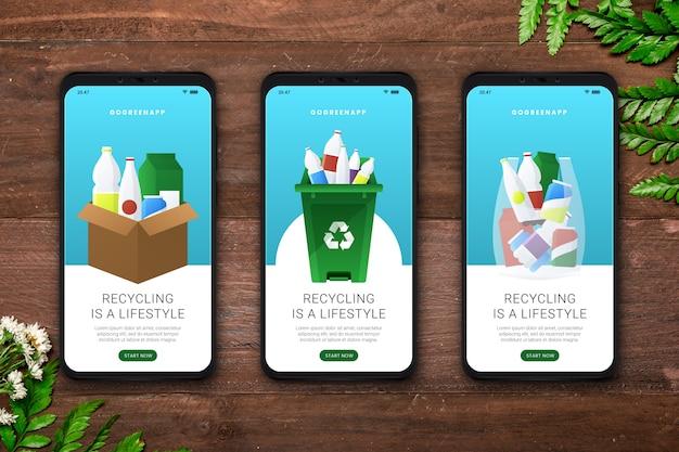 Recycle app-schermen