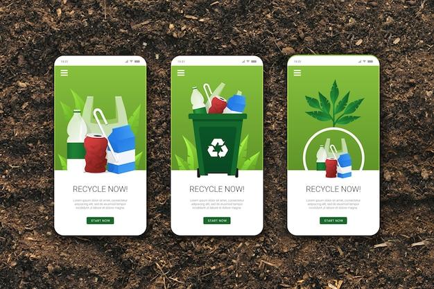Recycle app-sjabloon voor onboarding