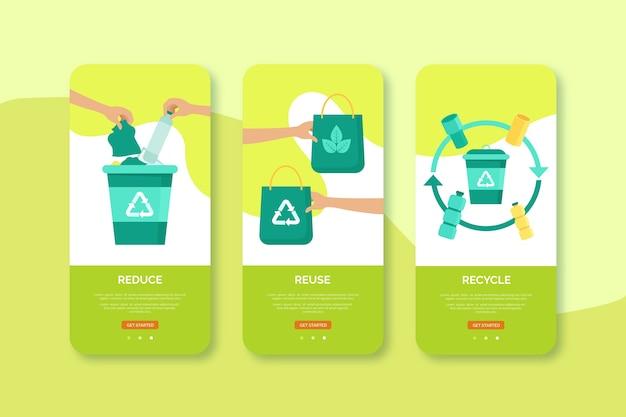 Recycle en hergebruik het ontwerp van de mobiele interface