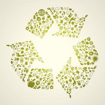 Recycle icon achtergrond
