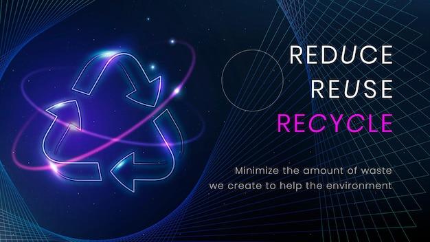 Recycle milieu banner sjabloon vector