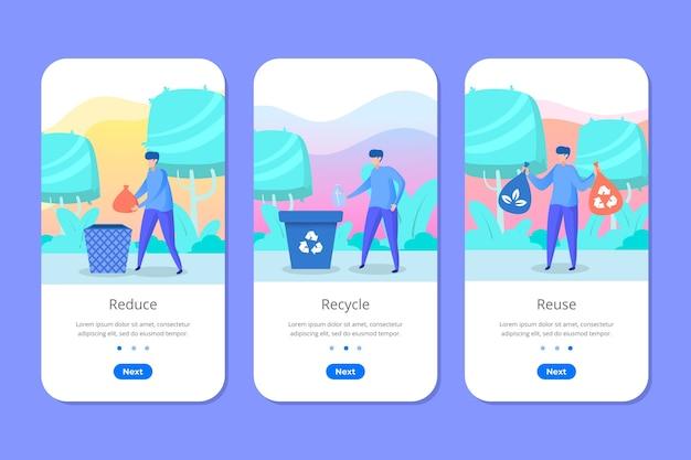 Recycle mobiele telefoon app