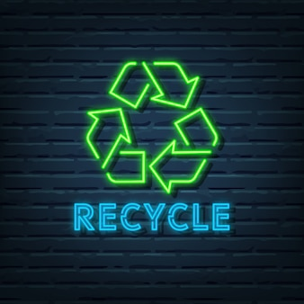 Recycle neonreclame