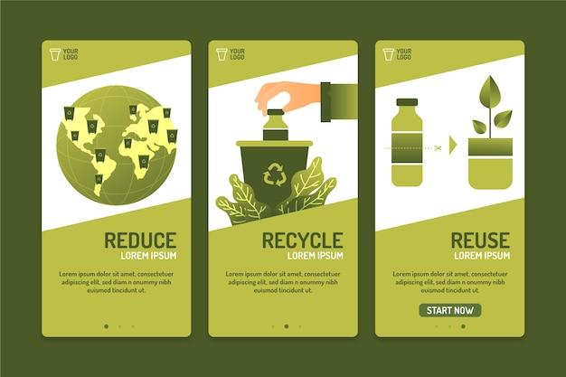 Recycle onboarding app schermcollectie