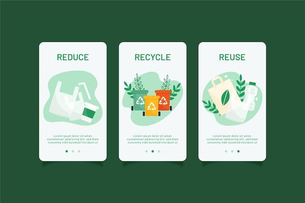 Recycle onboarding app schermen pack