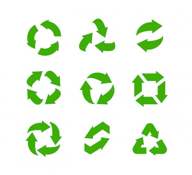 Recycle pictogrammen instellen