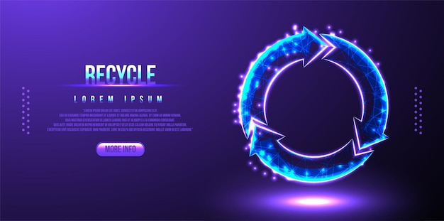 Recycle repeat low poly wireframe mesh