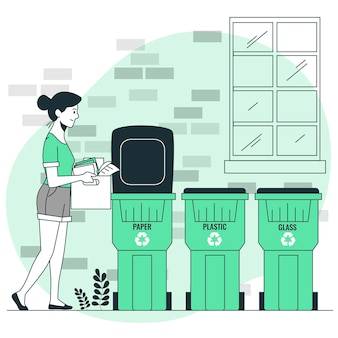 Recycling concept illustratie