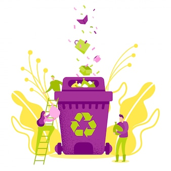 Recycling garbage, save ecology