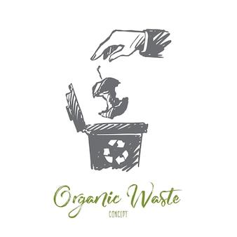 Recycling illustratie in de hand getekend