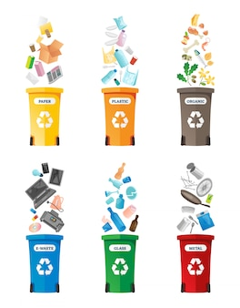 Recycling illustratie