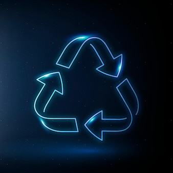 Recycling pictogram vector milieubehoud symbool